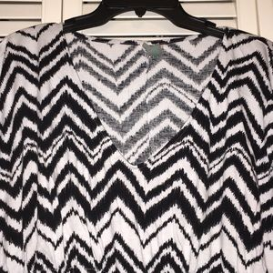 new directions Swim - Black and White Chevron Cover Up